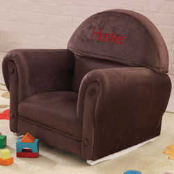 Brown Just My Size Personalized Kid's Upholstered Rocker