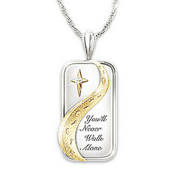 You'll Never Walk Alone Diamond Pendant