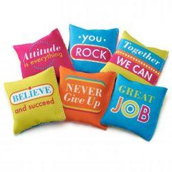 Tossable Inspiration Mini Pillows