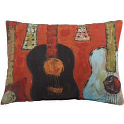 Hot Guitar Pillow