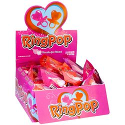 Valentine Heart-Shaped Ring Pops