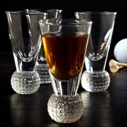 Dimpled Golf Ball Shot Glasses