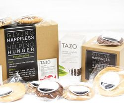 Homemade Cookies and Starbucks Tazo Tea Gift Box
