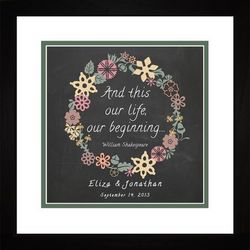 Our Life Our Beginning Personalized Framed Art Print