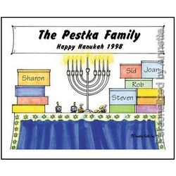 Hanukah Friendly Folks Personalized Cartoon Print