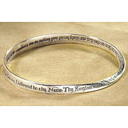 Lord's Prayer Mobius 14K Gold Bracelet