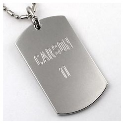 Engravable Dog Tag Necklace