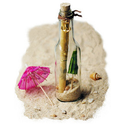 Invitation in a Bottle with Boat Anchor
