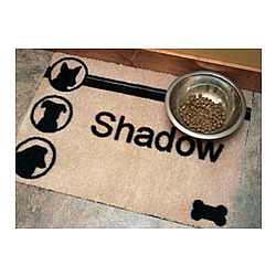 Dog Silhouettes Personalized Doormat