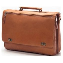 Leather Turn Lock Briefcase