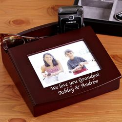 Personalized Framed Wood Organizer