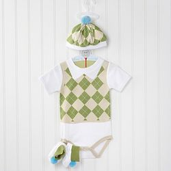 Sweet Tee 3 Piece Golf Layette Set