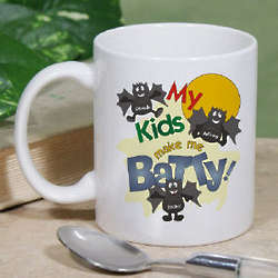 Batty Kids Personalized Halloween Coffee Mug