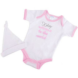 Welcome to the World Baby Girl Bodysuit Set
