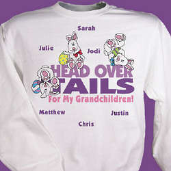 Head Over Tails Personalized Sweatshirt
