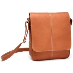 Leather Flapover eReader and iPad Bag