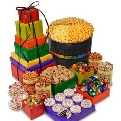 Say It in Color Snacks and Munchies Gift Tin or Tower