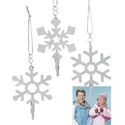 Snowflake Photo Clip Ornaments