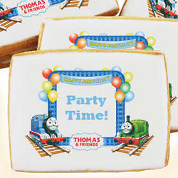 Thomas and Friends Train Happy Birthday Cookies