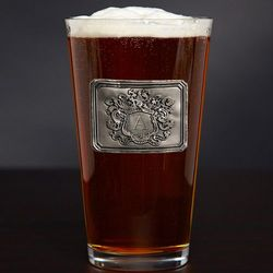 Personalized Royal Crest Pint Glass