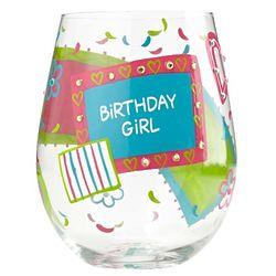 Birthday Girl Stemless Wine Glass