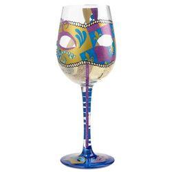 Party Gras Wine Glass