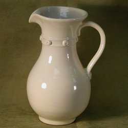 Cute as a Button Ceramic Pitcher
