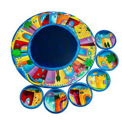 Jerusalem Design Seder Plate