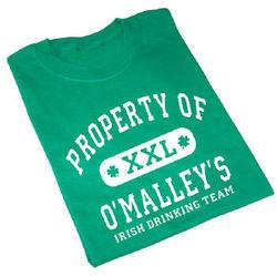 Property of Irish Drinking Team Personalized T-Shirt