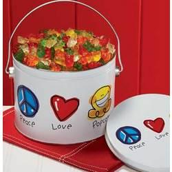 Peace, Love & Popcorn Gummy Bears