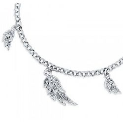 Ankle Bracelet Chain with Angel Wing Charms