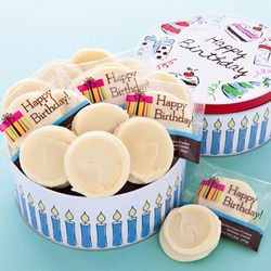 Happy Birthday Cookies with Musical Tin