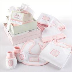 Patty Cake Six-Piece Pink Layette Set