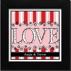 Personalized Framed Love Print