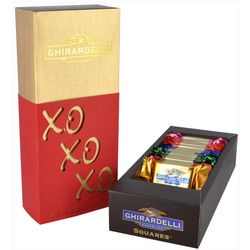 XOXO Silhouette Gift Box with Chocolate Squares