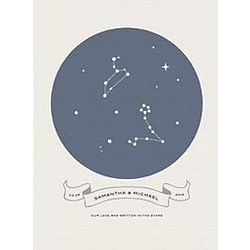 Love in Stars Blue Canvas Art