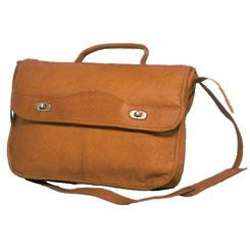 Leather Half Flap Expandable Briefcase