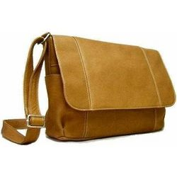 Vaquetta Leather Large Horizontal Flapover Bag