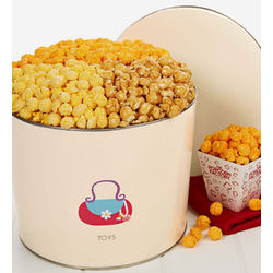 Girl's Popcorn Gift Tin with Purse Design