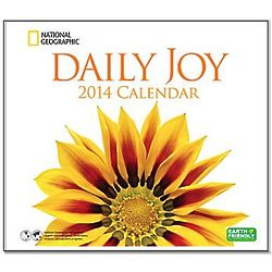 2014 National Geographic Daily Joy Wall Calendar