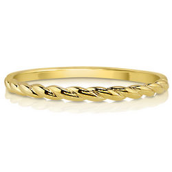 10K Yellow Gold Petite Half Woven Ring