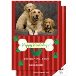Happy Howlidays Photo Christmas Card