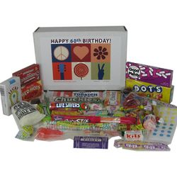 60th Birthday Peace and Love Candy Gift Box