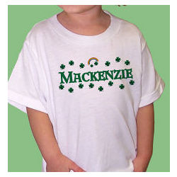 Shamrocks Personalized T-Shirt