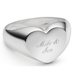Sterling Silver Heart Ring with Keepsake Box
