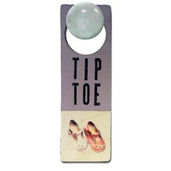 Tip Toe T-Strap Door Sign