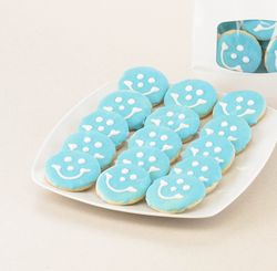 Mini Baby Boy Smiley Cookies