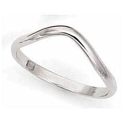 14K White Gold 2mm Thumb Ring