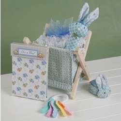 Baby Boy's Bunny Boo Gift Basket