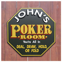 Personalized Octagon Poker Room Sign